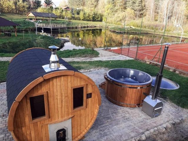 Sauna i gorąca balia